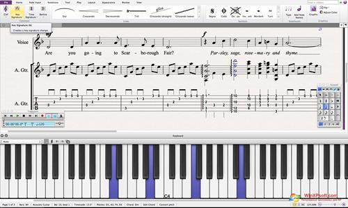 Скриншот программы Sibelius для Windows XP