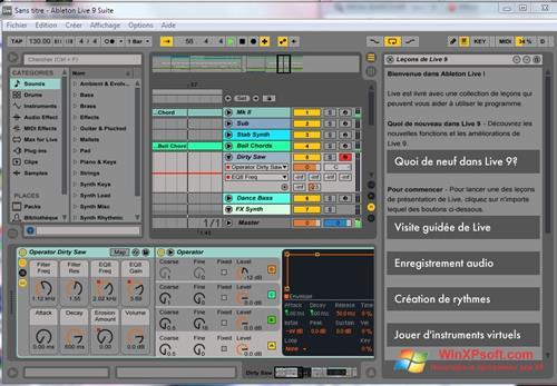 Скриншот программы Ableton Live для Windows XP