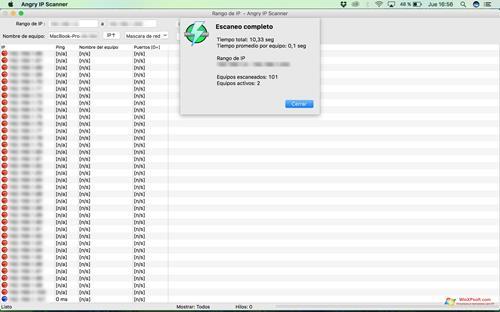 Скриншот программы Angry IP Scanner для Windows XP