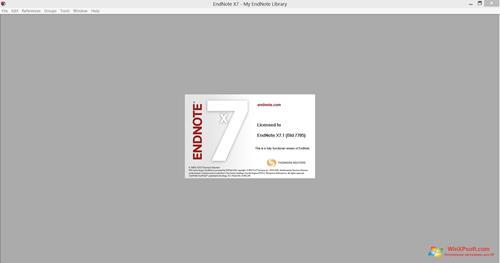 Скриншот программы EndNote для Windows XP
