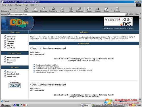 Скриншот программы CDex для Windows XP