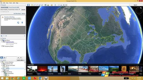 Скриншот программы Google Earth для Windows XP