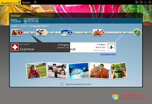 Скриншот программы Rosetta Stone для Windows XP