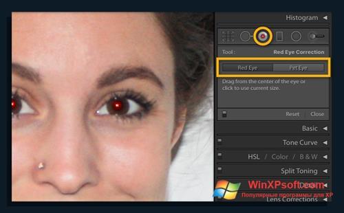 Скриншот программы Red Eye Remover для Windows XP