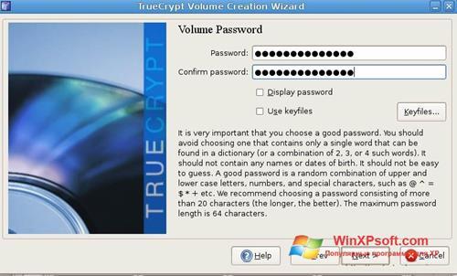 Скриншот программы TrueCrypt для Windows XP
