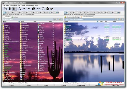 Скриншот программы Unreal Commander для Windows XP