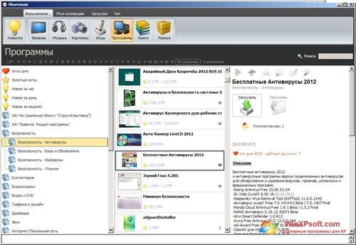 Скриншот программы Shareman для Windows XP
