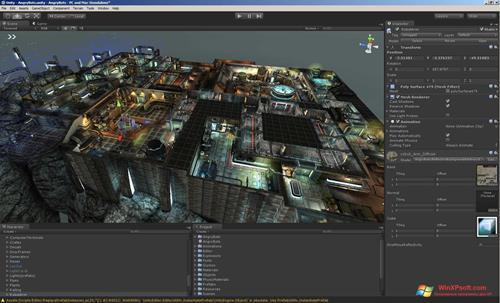 Скриншот программы Unity 3D для Windows XP