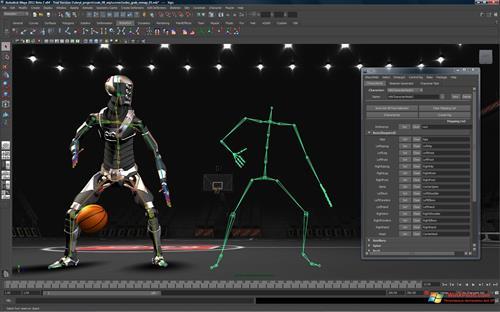Скриншот программы Autodesk Maya для Windows XP