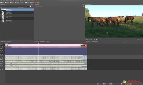 Скриншот программы Kdenlive для Windows XP