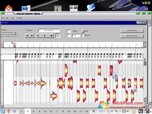 Скриншот программы Melodyne для Windows XP