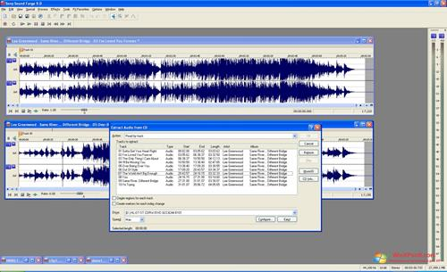 Скриншот программы Sound Forge для Windows XP