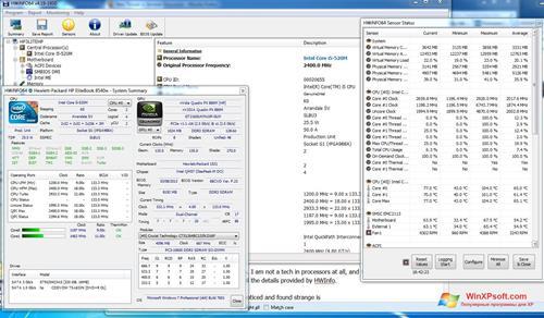 Скриншот программы HWiNFO для Windows XP