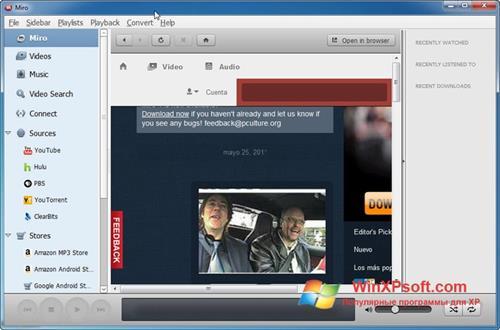 Скриншот программы Miro для Windows XP