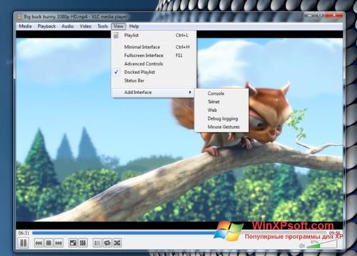 Скриншот программы VLC Media Player для Windows XP