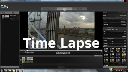 Скриншот программы GoPro Studio для Windows XP
