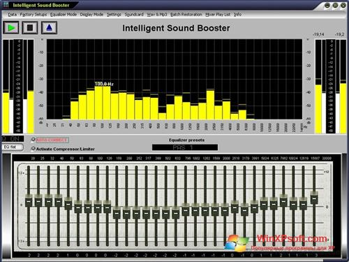 Скриншот программы Sound Booster для Windows XP
