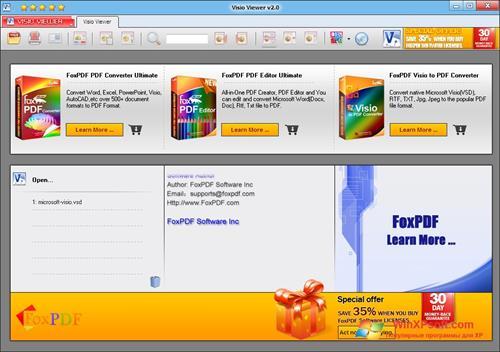Скриншот программы VSD Viewer для Windows XP