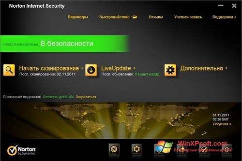 Скриншот программы Norton Internet Security для Windows XP