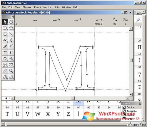 Скриншот программы Fontographer для Windows XP