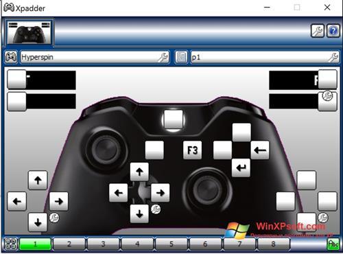 Скриншот программы Xpadder для Windows XP
