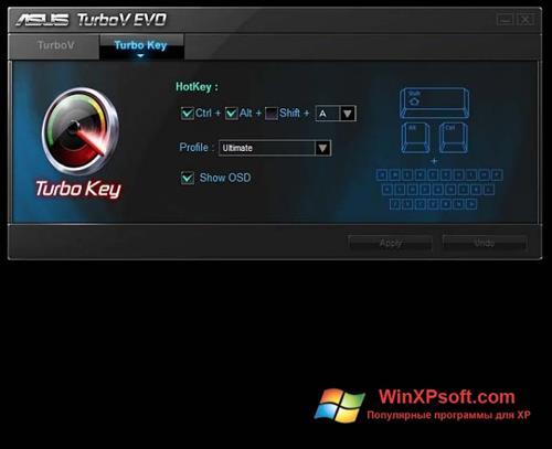 Скриншот программы TurboV EVO для Windows XP