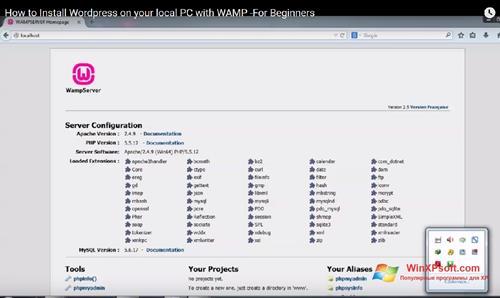 Скриншот программы WampServer для Windows XP