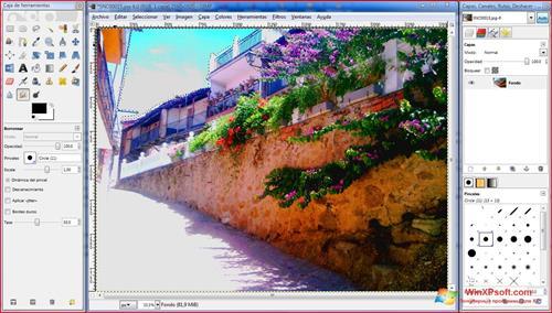 Скриншот программы GIMP для Windows XP