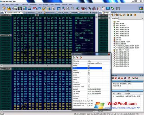Скриншот программы Hex Editor Neo для Windows XP