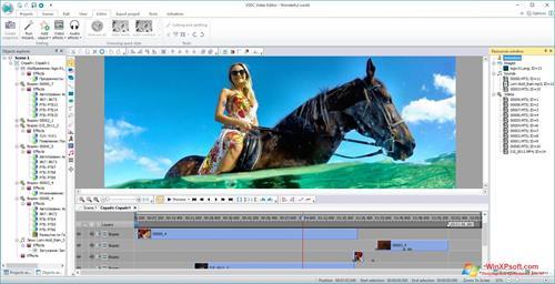 Скриншот программы VSDC Free Video Editor для Windows XP