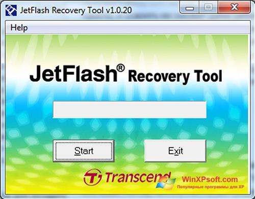 Скриншот программы JetFlash Recovery Tool для Windows XP