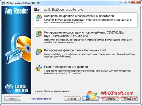 Скриншот программы AnyReader для Windows XP