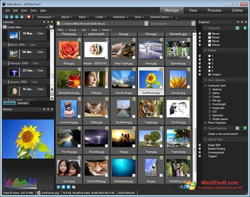 Скриншот программы ACDSee для Windows XP
