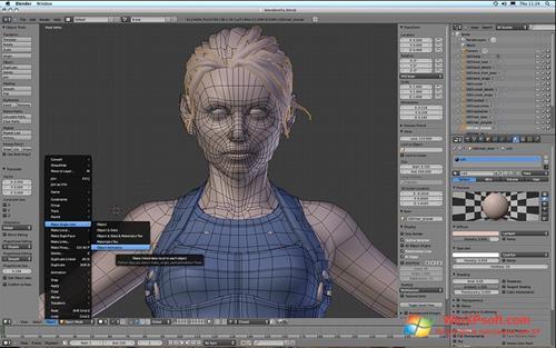 Скриншот программы Blender для Windows XP