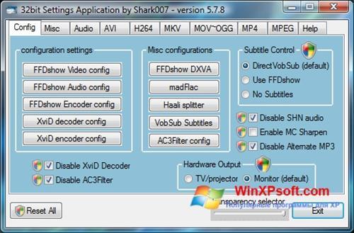 Скриншот программы Vista Codec Package для Windows XP