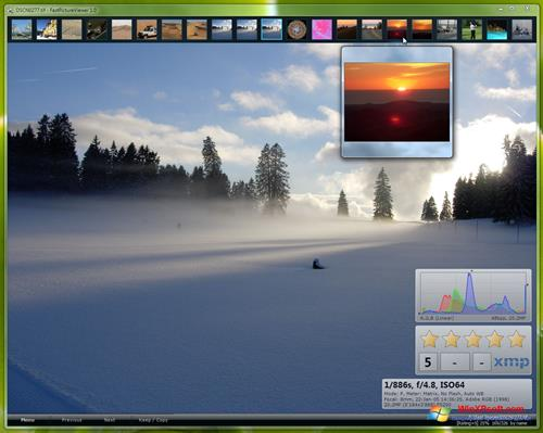 Скриншот программы FastPictureViewer для Windows XP