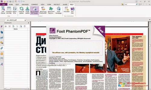 Скриншот программы Foxit Phantom для Windows XP