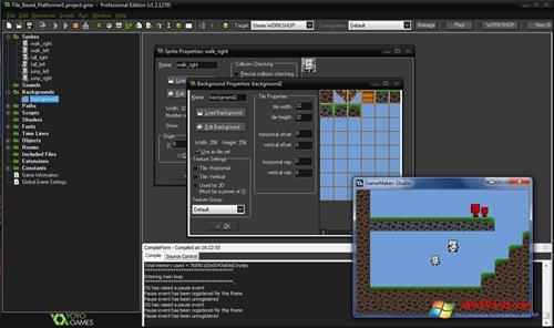Скриншот программы GameMaker: Studio для Windows XP