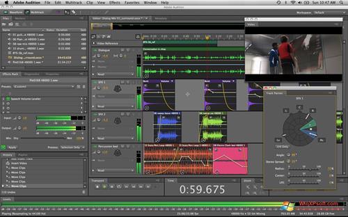 Скриншот программы Adobe Audition для Windows XP