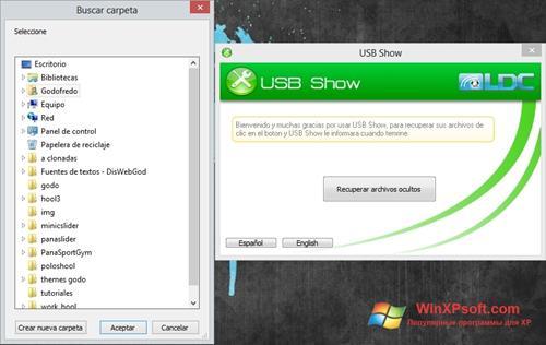 Скриншот программы USB Show для Windows XP