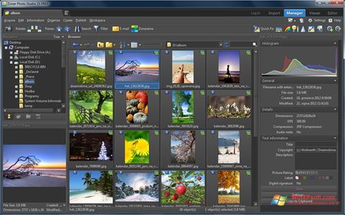 Скриншот программы Zoner Photo Studio для Windows XP