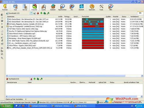 Скриншот программы eMule для Windows XP