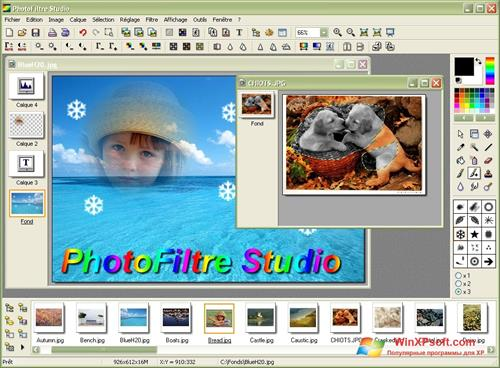 Скриншот программы PhotoFiltre для Windows XP