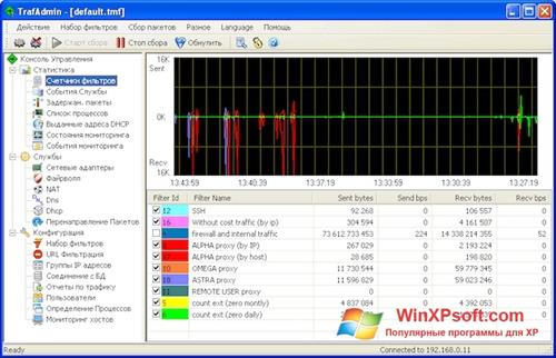 Скриншот программы TMeter для Windows XP
