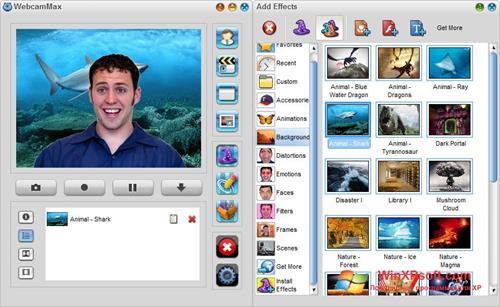 Скриншот программы WebcamMax для Windows XP