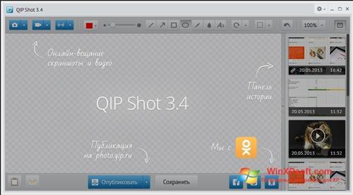 Скриншот программы QIP Shot для Windows XP