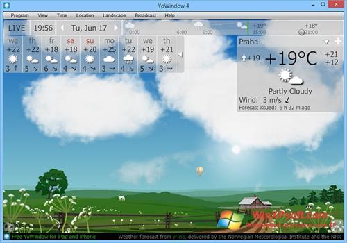 Скриншот программы YoWindow для Windows XP