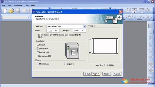 Скриншот программы BarTender для Windows XP