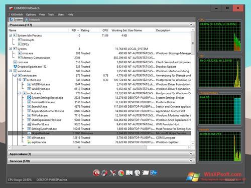Скриншот программы Comodo Cleaning Essentials для Windows XP