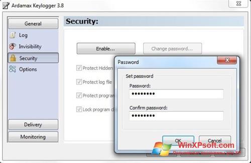 Скриншот программы Ardamax Keylogger для Windows XP